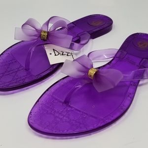 Dizzy Purple Flip Flops New Women's Sandals Sz 9